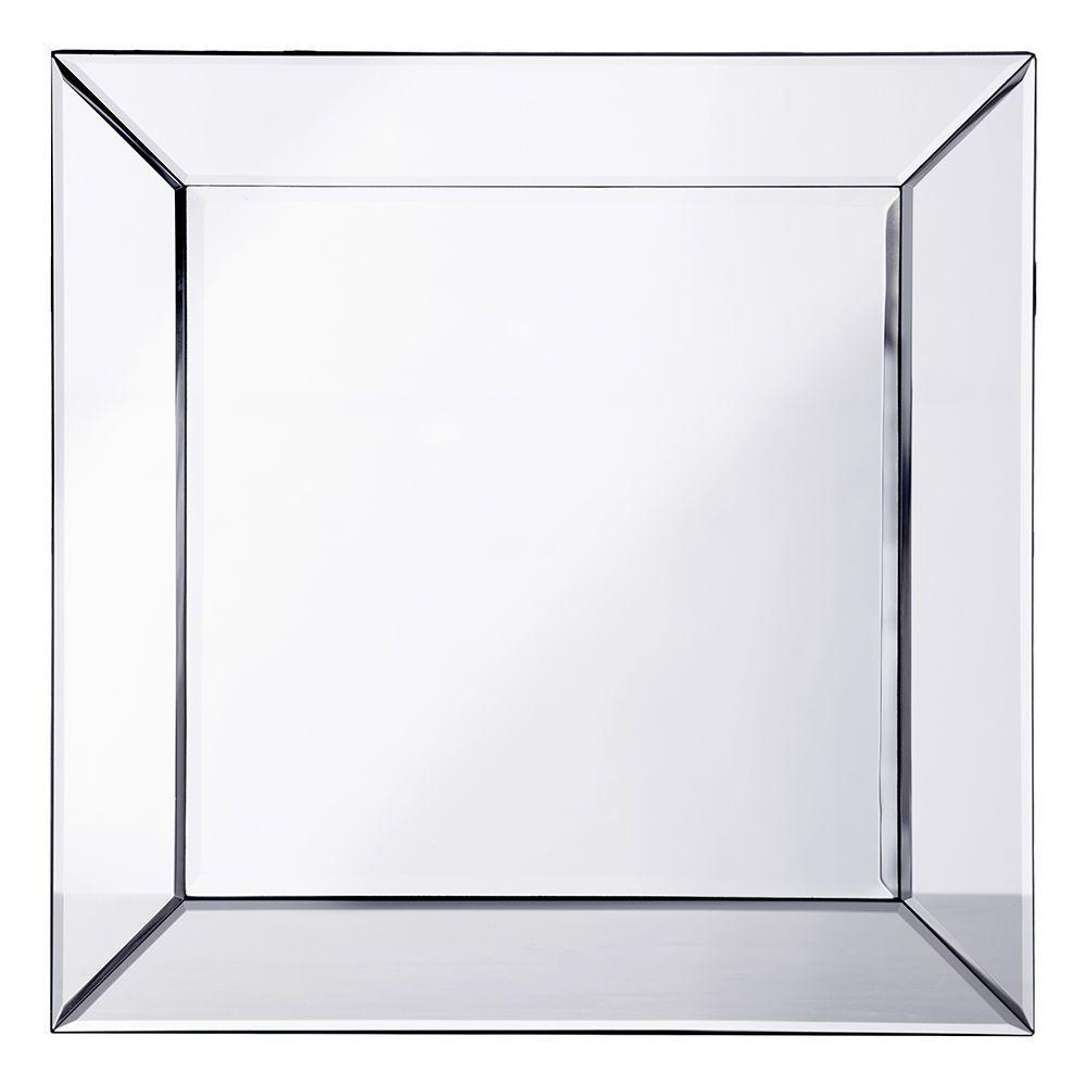 Mitre Edge Square Mirror Silver From Litecraft
