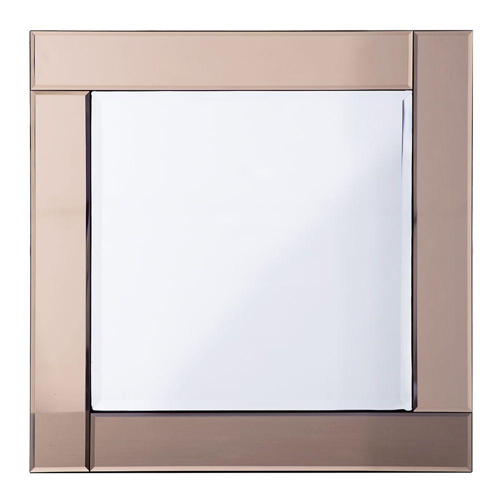 Classic Bar Square Mirror  Bronze
