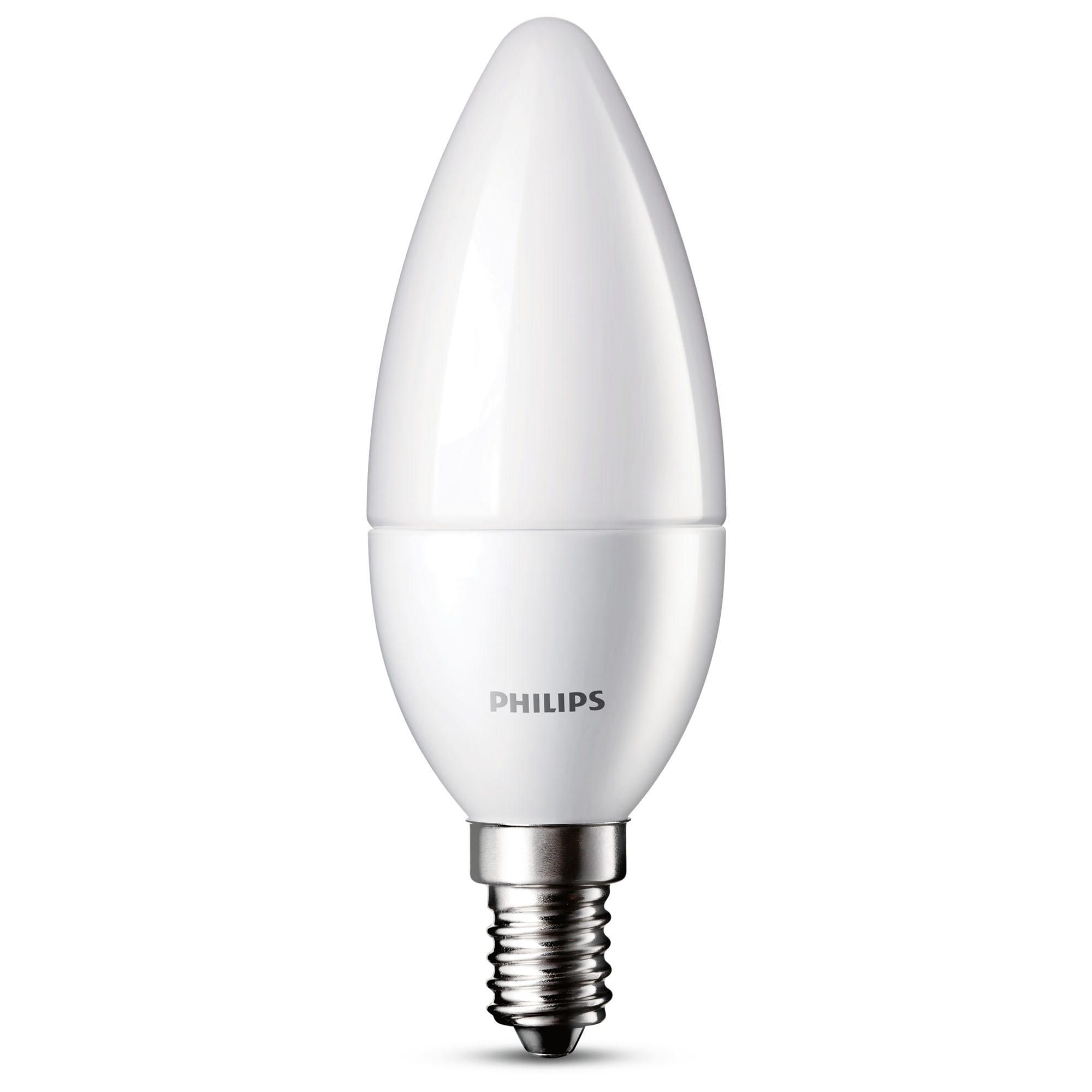 Philips 6 Watt LED E14 Small Edison Screw Candle Light Bulb  Warm White