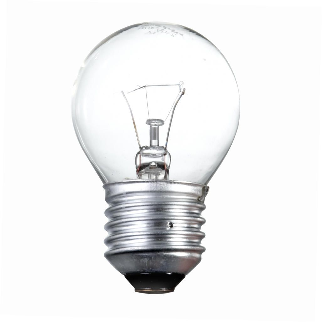 60 Watt Es E27 Edison Screw Golf Ball Light Bulb Clear