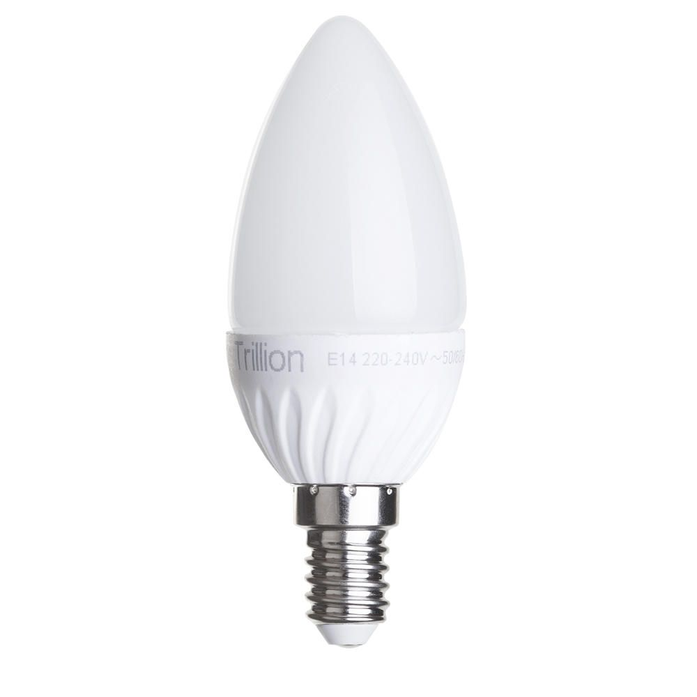E14 LED Light Candle Bulb Small Edison Screw  3 Watt  Warm White Opal