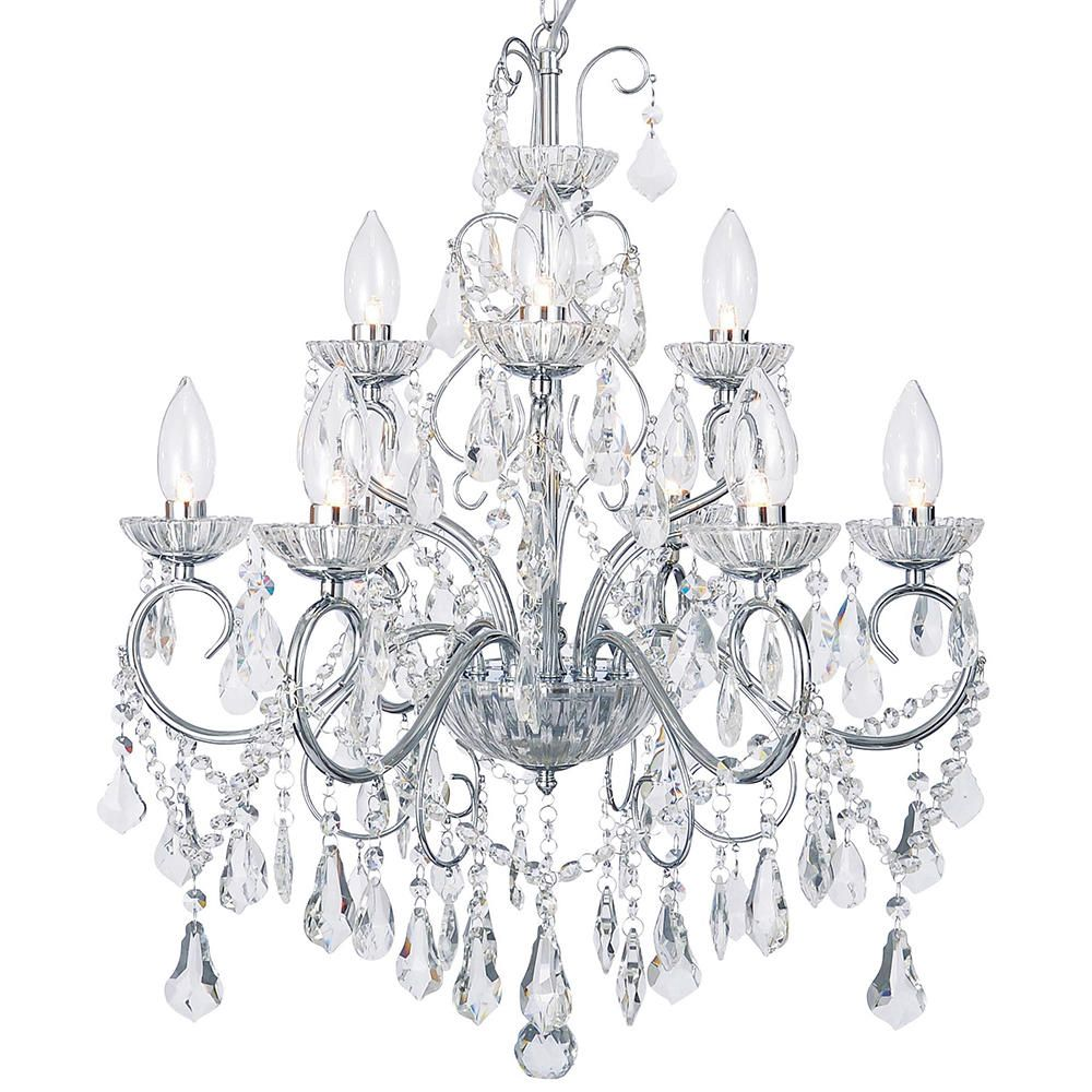 Vara 9 light bathroom chandelier chrome free delivery aloadofball Image collections