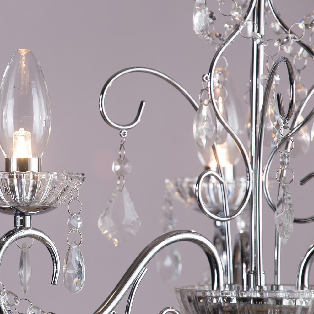 Vara 3 light bathroom chandelier chrome from litecraft beautiful bathroom chandeliers and home lighting ideas aloadofball Gallery