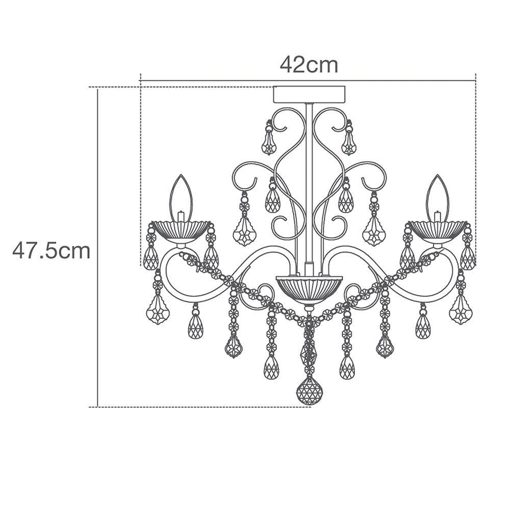 Vara 3 light bathroom chandelier chrome from litecraft vara 3 light bathroom chandelier specification illustration arubaitofo Images