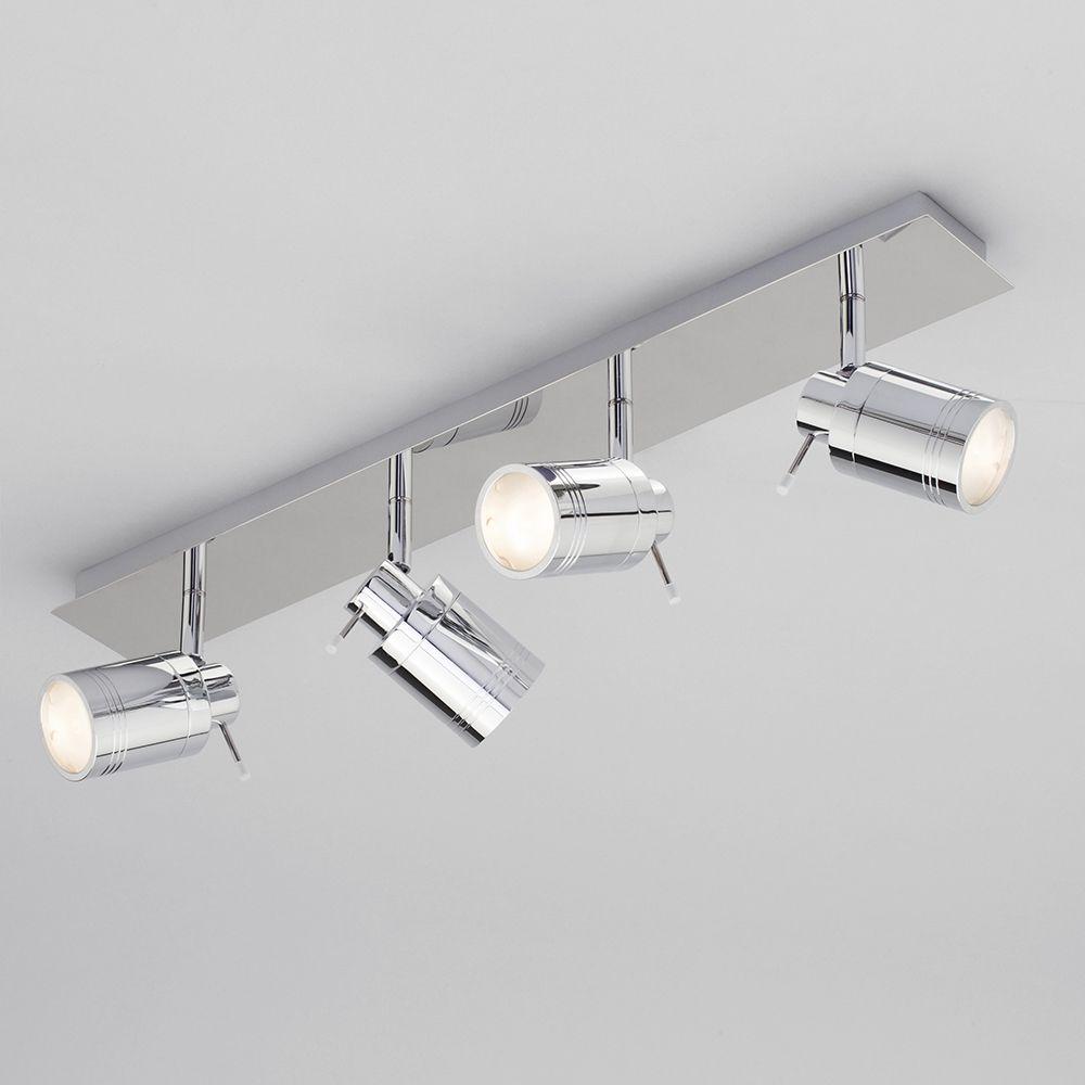 Ceiling Spotlight Bar Bathroom Hugo 4 Light Chrome