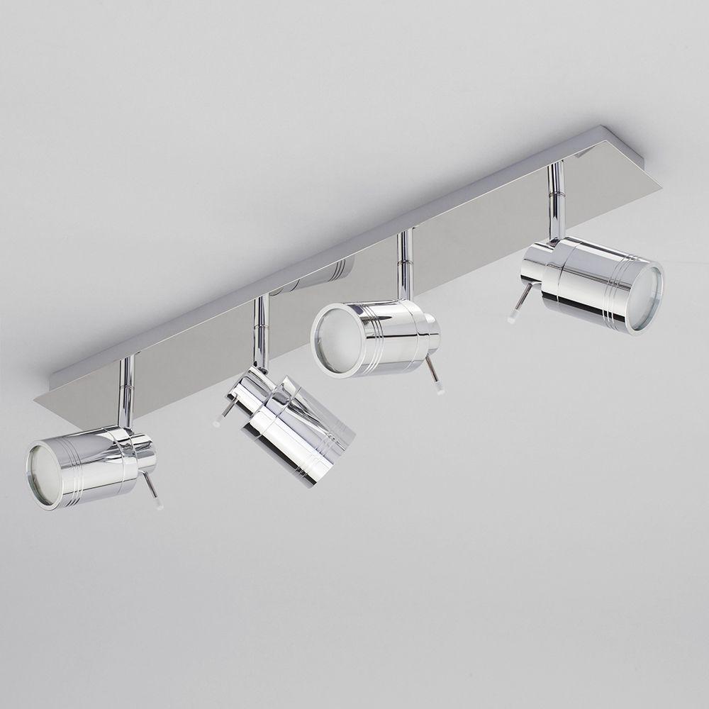 Ceiling Spotlight Bar - Bathroom Hugo 4 Light - Chrome from Litecraft