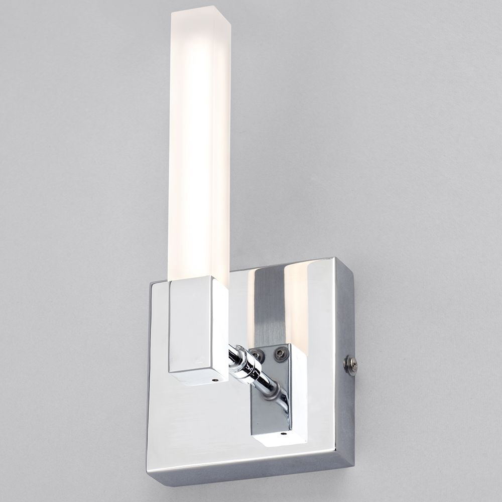 Reno Rectangular LED Bathroom Wall Light - Chrome from Litecraft