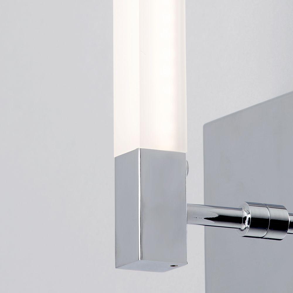 Reno rectangular led bathroom wall light chrome from litecraft modern led wall lights aloadofball Images