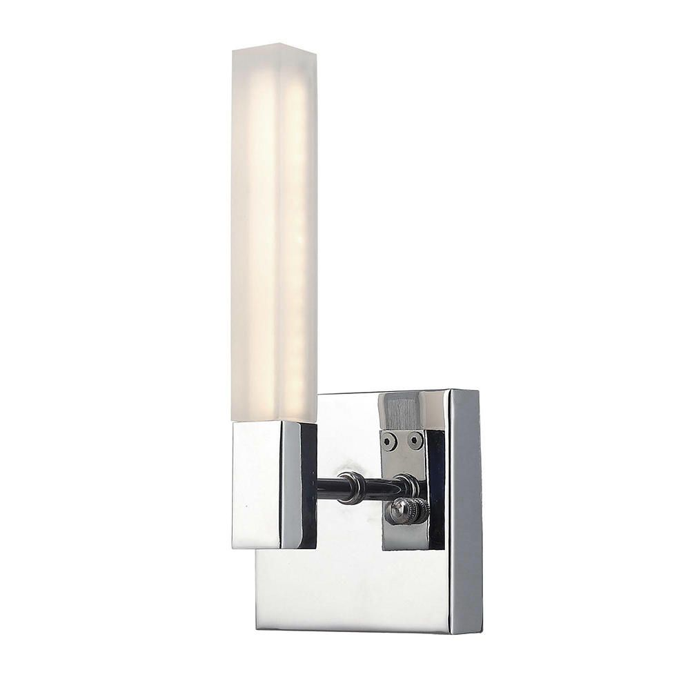 Reno Rectangular LED Bathroom Wall Light - Chrome from Litecraft