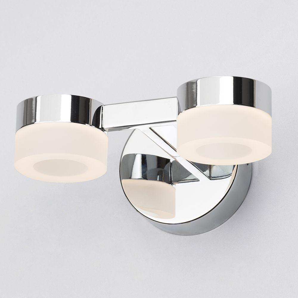 Chrome Kitchen Wall Lights : Calore 2 Light LED Bathroom Wall Light - Chrome from Litecraft