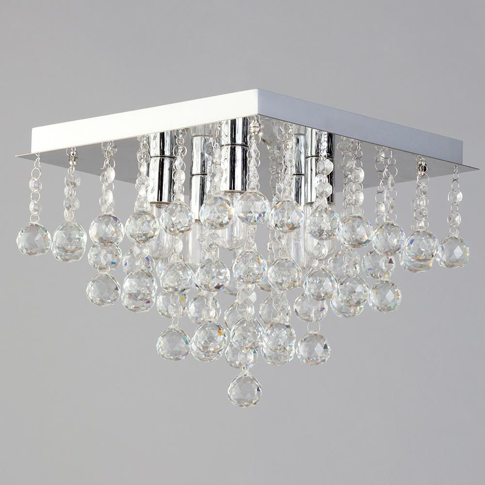 lights orlando 5 light bathroom square flush ceiling light chrome