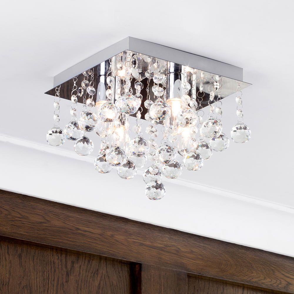 Orlando 4 light square bathroom flush ceiling light chrome fastfree delivery arubaitofo Choice Image