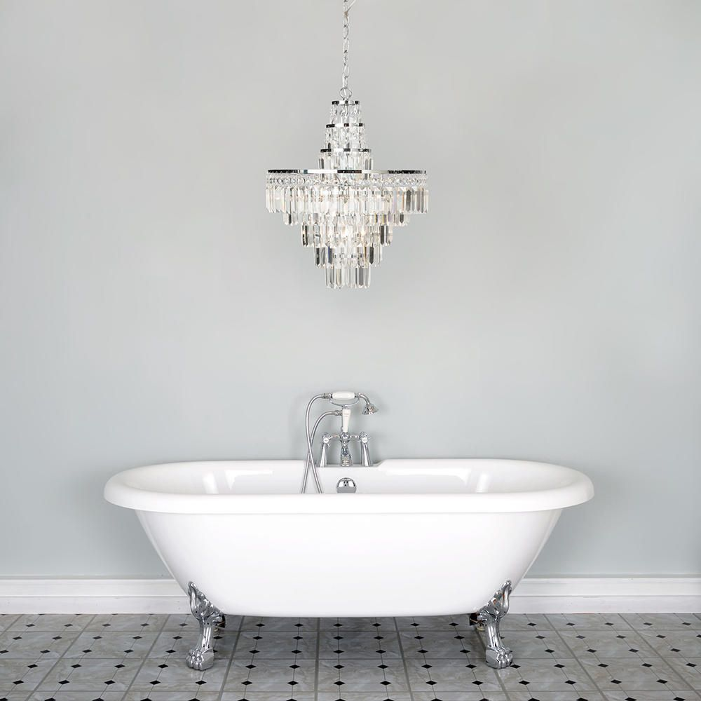 Vasca crystal bar large bathroom chandelier chrome from litecraft bathroom elegant statement chandelier lighting ip rated arubaitofo Images