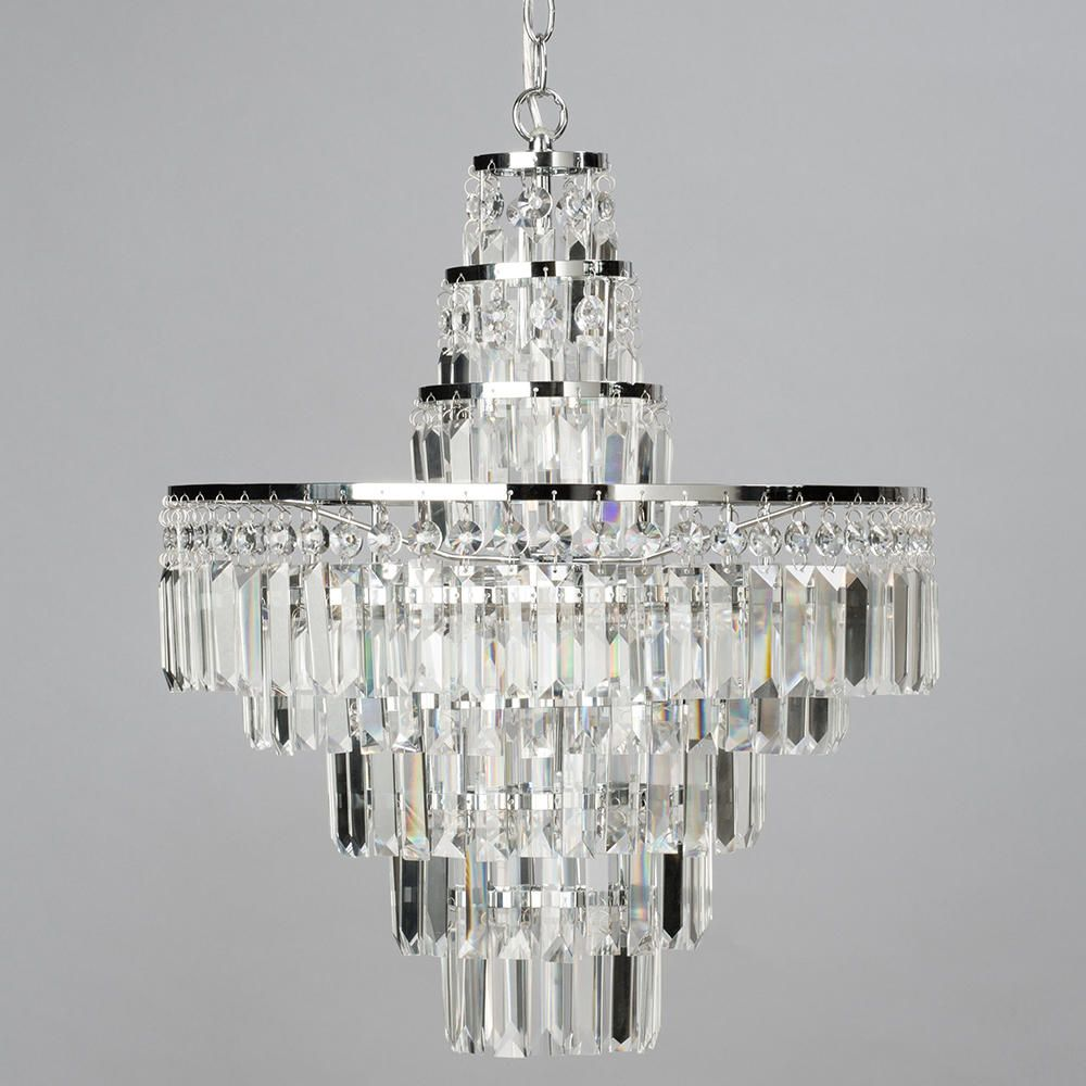 Vasca Crystal Bar Large Bathroom Chandelier Chrome From