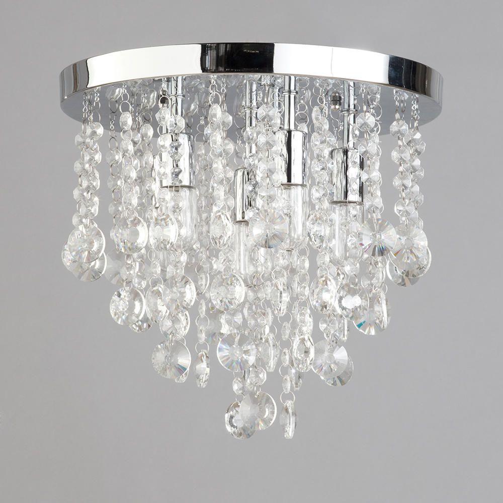 turin semi flush bathroom ceiling 6 light - chrome | litecraft