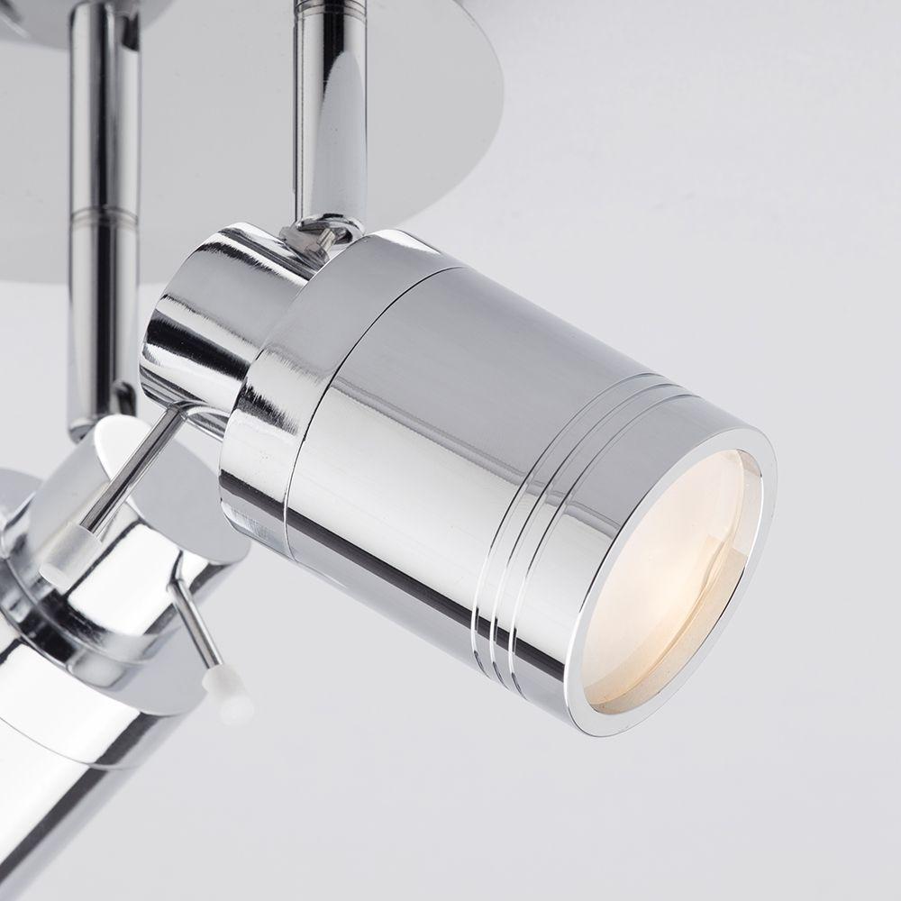 Bathroom Round 1,3 Light Spotlight Plate & 4 Light