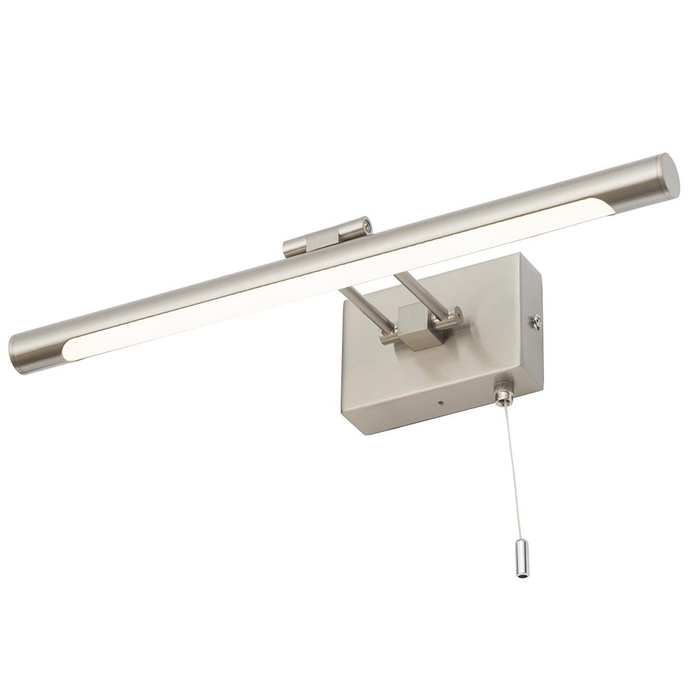 Ip44 Rated Bathroom Picture Light With Pull Cord Satin