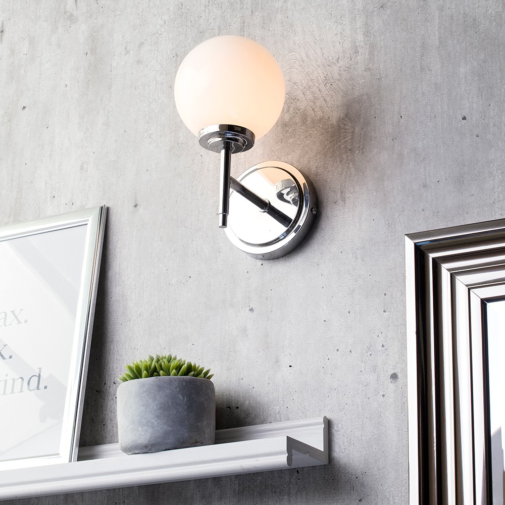 Terrific Preston 1 Light Bathroom Globe Wall Light Chrome Best Image Libraries Barepthycampuscom