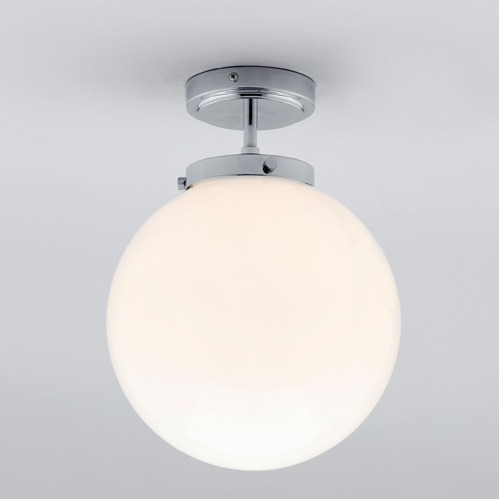Merveilleux White Glore Ceiling Semi Flush Light