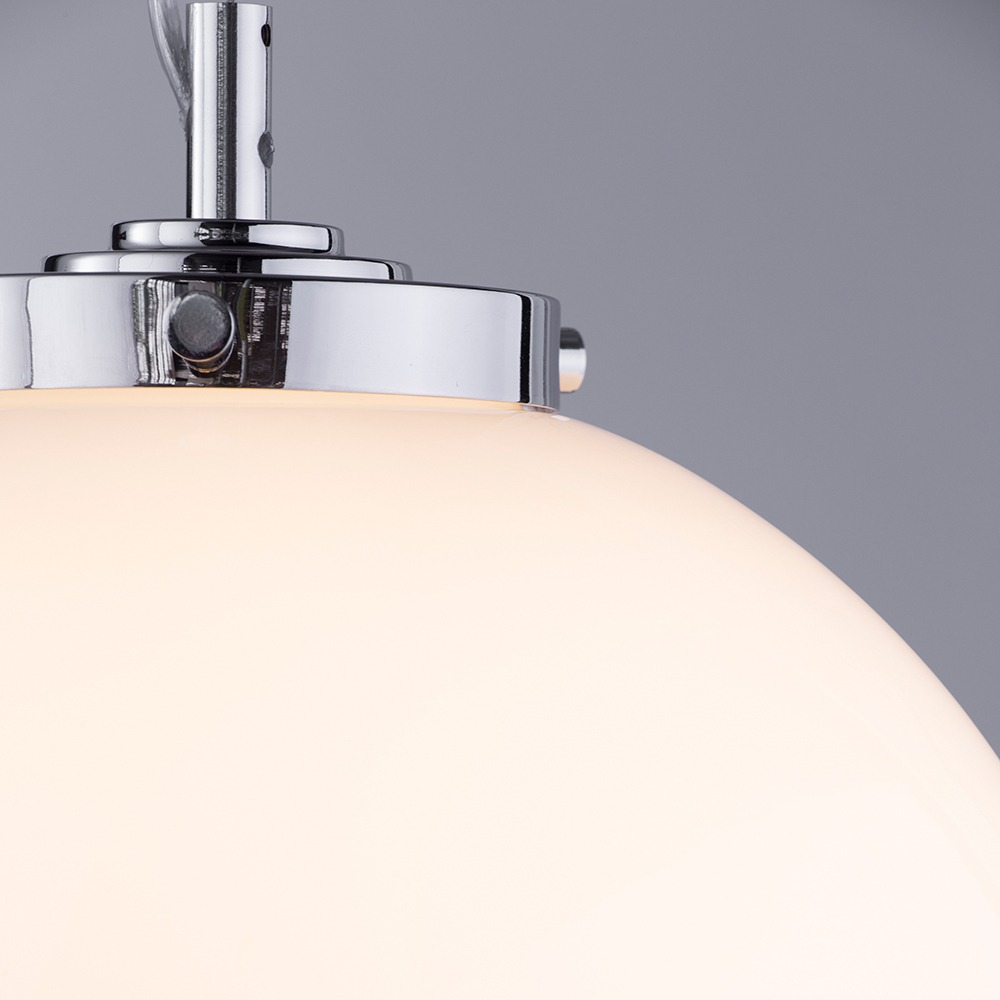 super popular 0f69b 9c821 Preston 1 Light Bathroom Pendant Globe Ceiling Light - Chrome