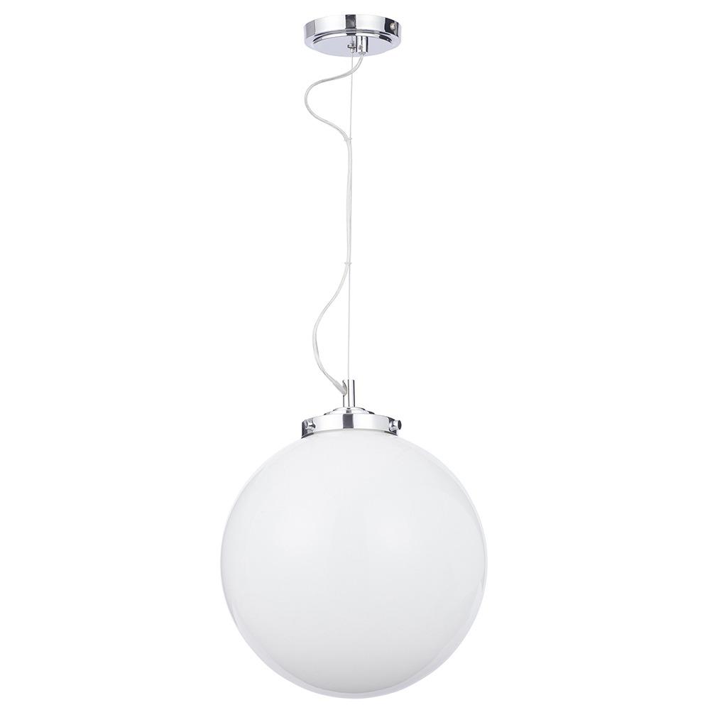 Preston 1 Light Bathroom Pendant Globe Ceiling Light - Chrome