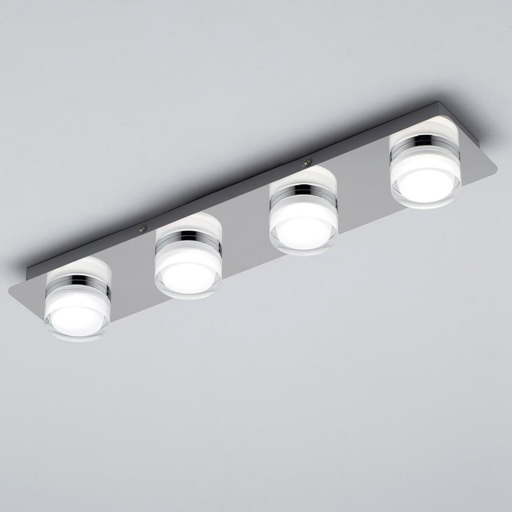 Bolton Bathroom 4 Light LED Ceiling Spotlight Bar | Litecraft