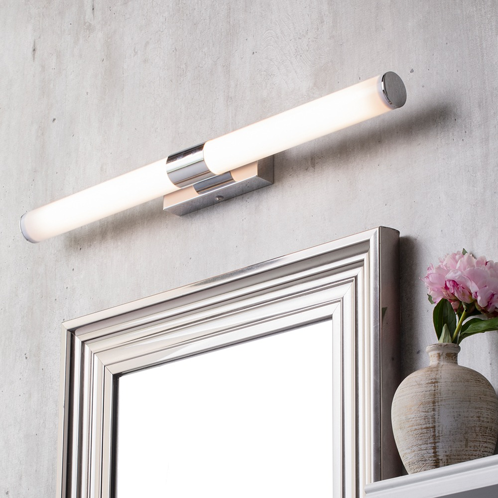 Doncaster Ip44 Large Led Mirror Bar Tube Wall Light