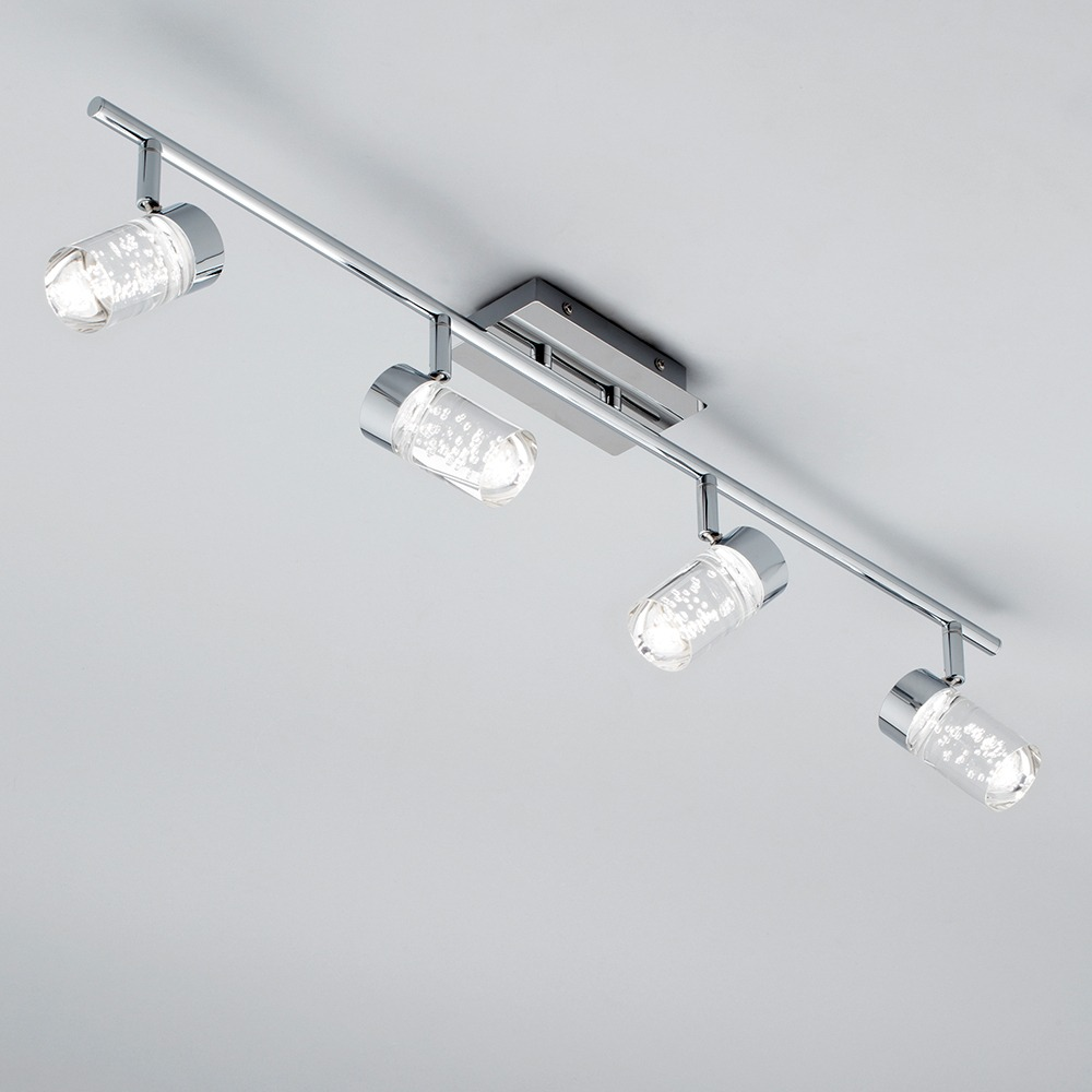 ceiling lighting light chrome in spotlights endon torsion two image bar led