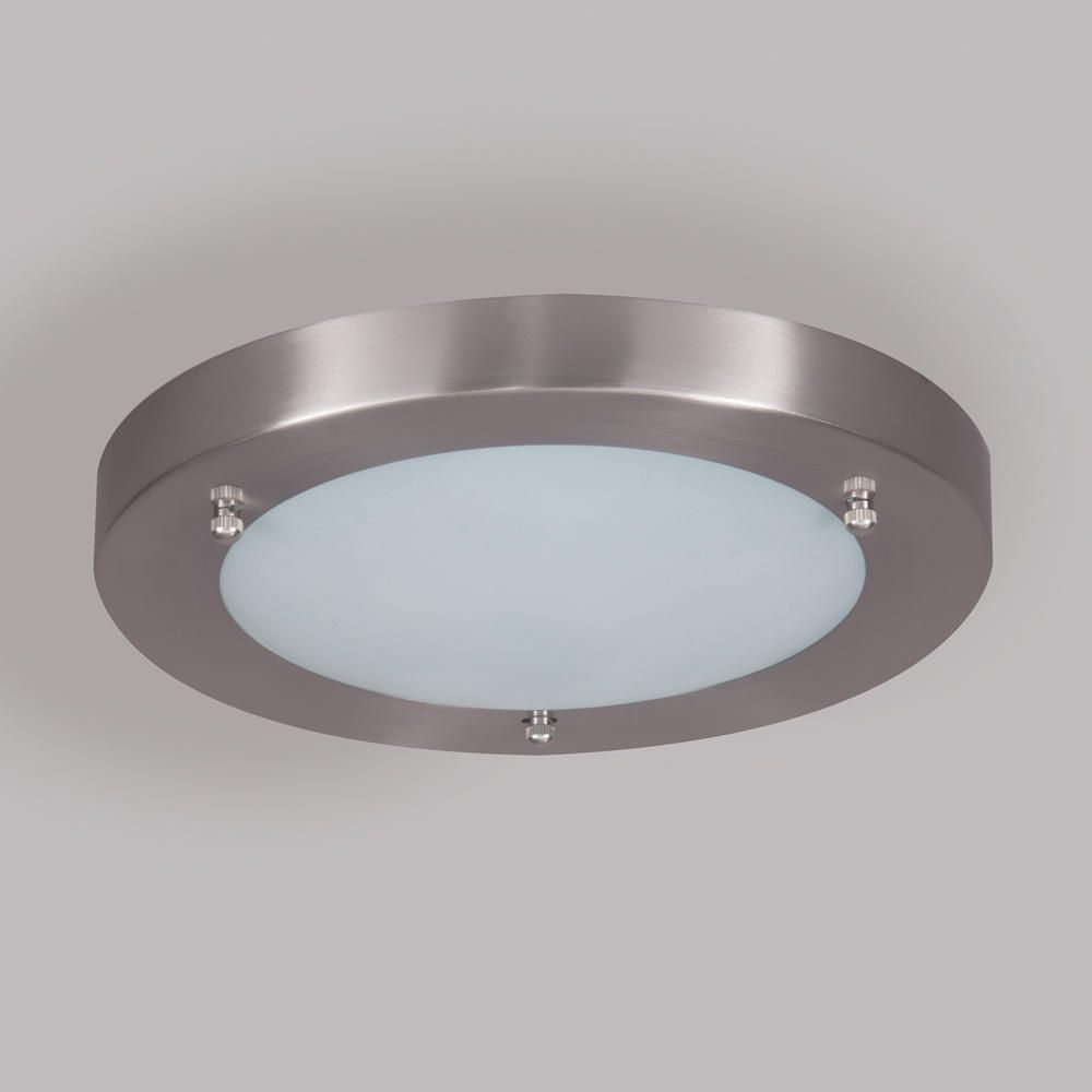 Bathroom ceiling lights hubble chrome effect lamp for Gardeners supply company catalog