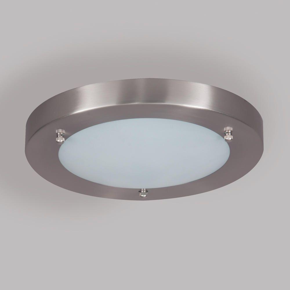 Large flush mounted ip44 modern bathroom ceiling light in - Bathroom lighting fixtures ceiling mounted ...