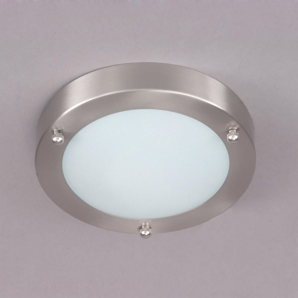Mari Flush Bathroom Light Satin Nickel From Litecraft