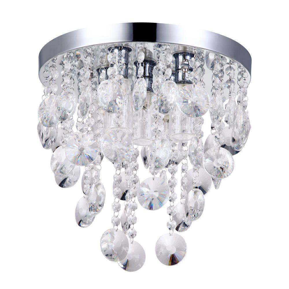 Elisa 5 light crystal effect bathroom ceiling light from litecraft - Bathroom chandeliers crystal ...