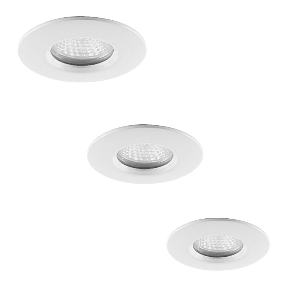 3 Pack Niccolo White Bathroom Downlights