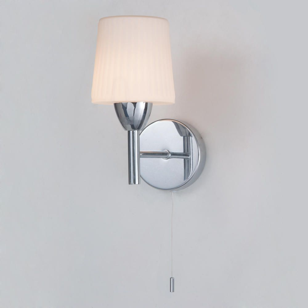 Molice Bathroom Wall Light Ribbed Opal Glass From Litecraft