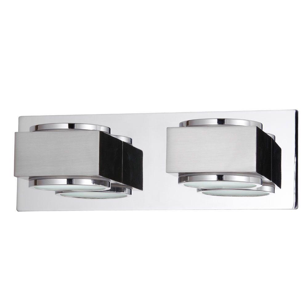 Litecraft Valina Twin Bathroom Wall Light - Chrome