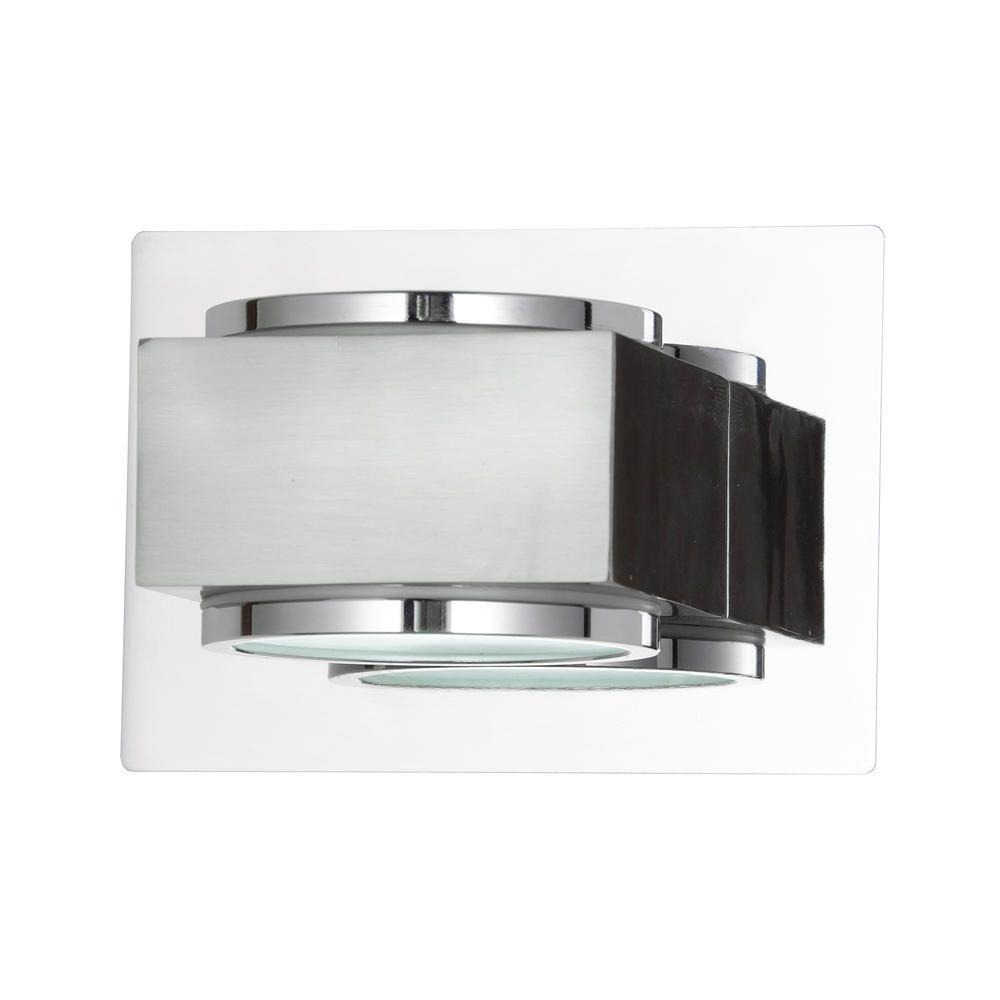 Litecraft Valina Single Bathroom Wall Light - Chrome