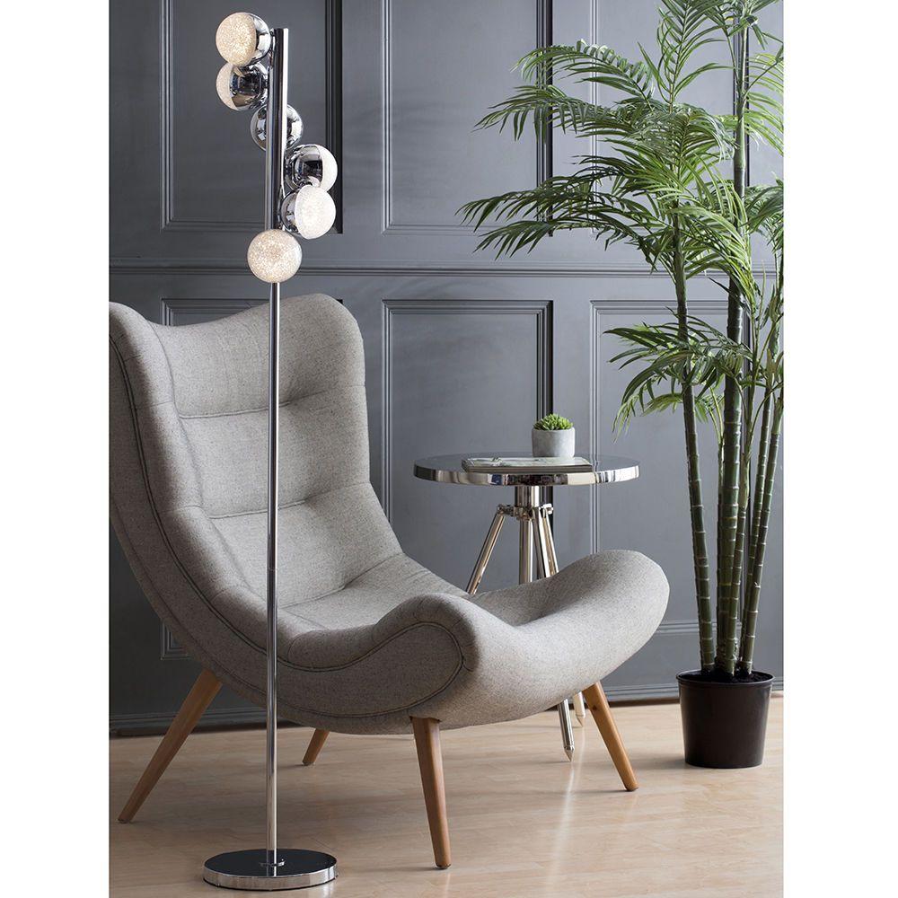 Visconte Corona 6 Light Vertical Spiral Floor Lamp - Chrome From ...