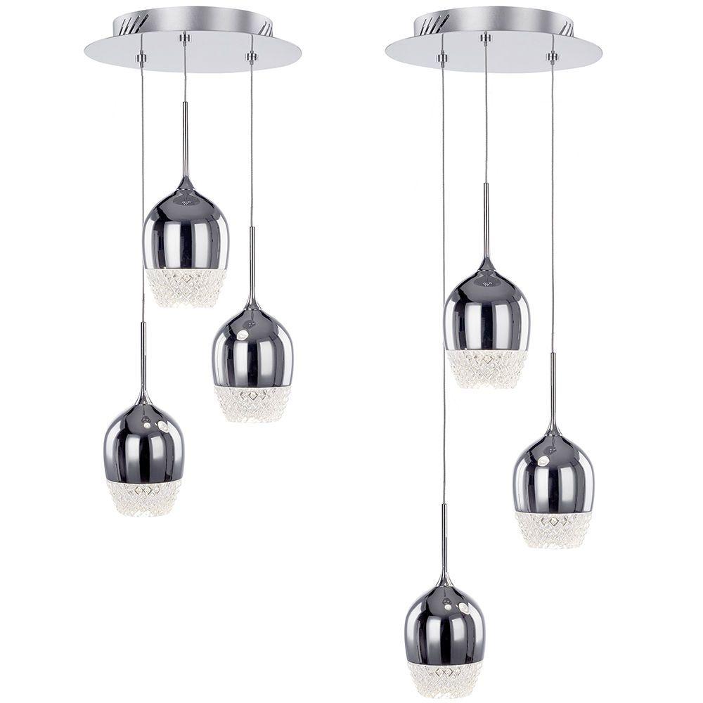 Visconte Goblet 3 Light Wine Glass Style Cluster Ceiling