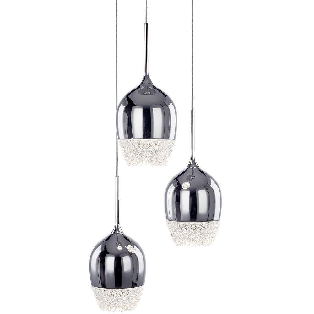 Goblet 3 Light Wine Glass Style Cluster Ceiling Pendant