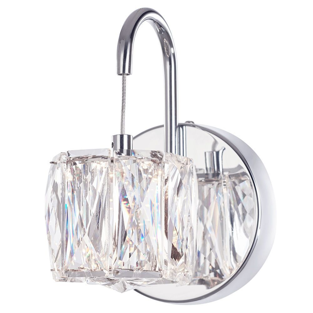 Litecraft Ice 1 Light Pendant Wall Light - Chrome