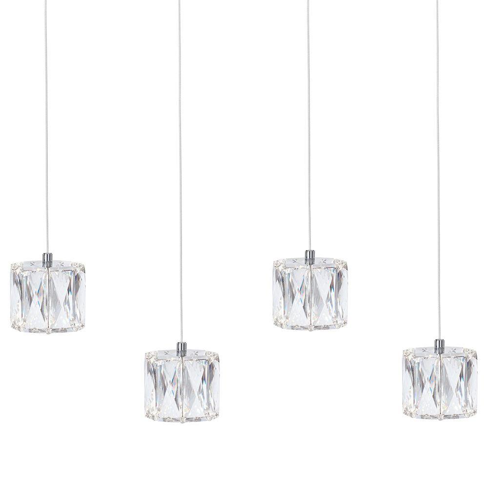 Ice 4 Light Ceiling Pendant Bar Chrome From Litecraft