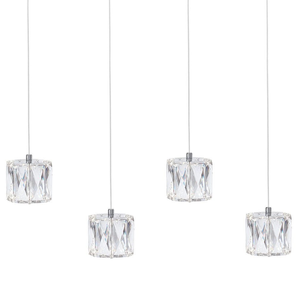 Litecraft Ice 4 Light Ceiling Pendant Bar - Chrome