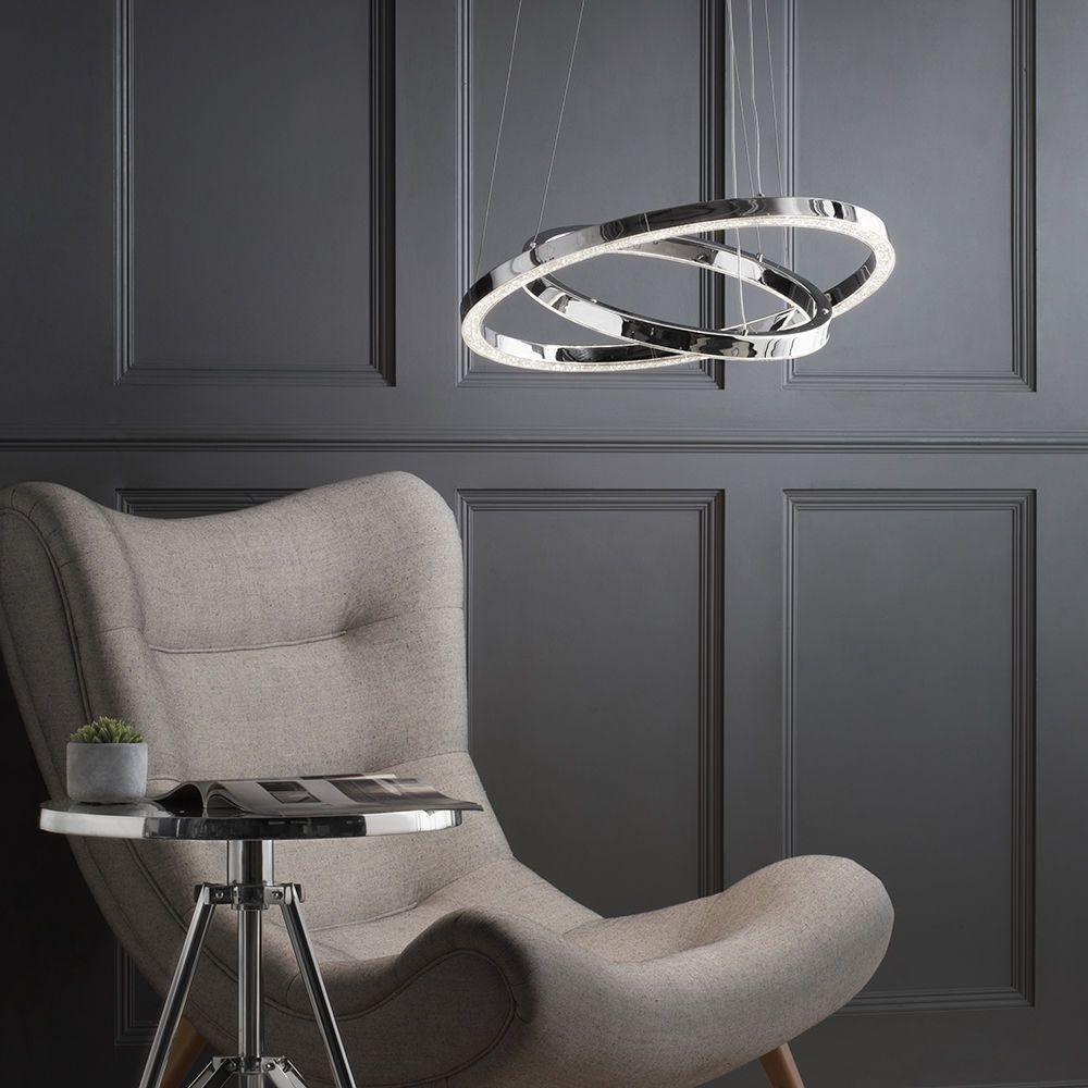 Visconte Spark LED Dual Hoop Ceiling Pendant Light