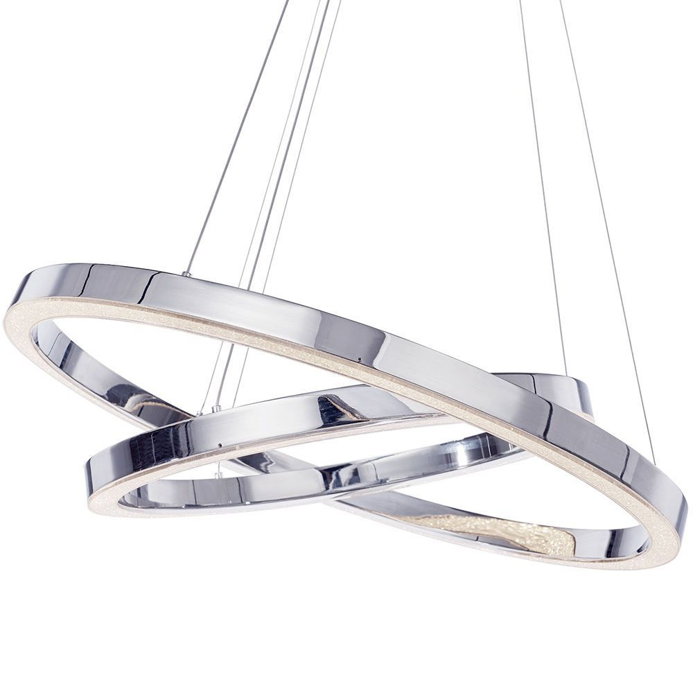 Visconte Spark Led Dual Hoop Ceiling Pendant Light