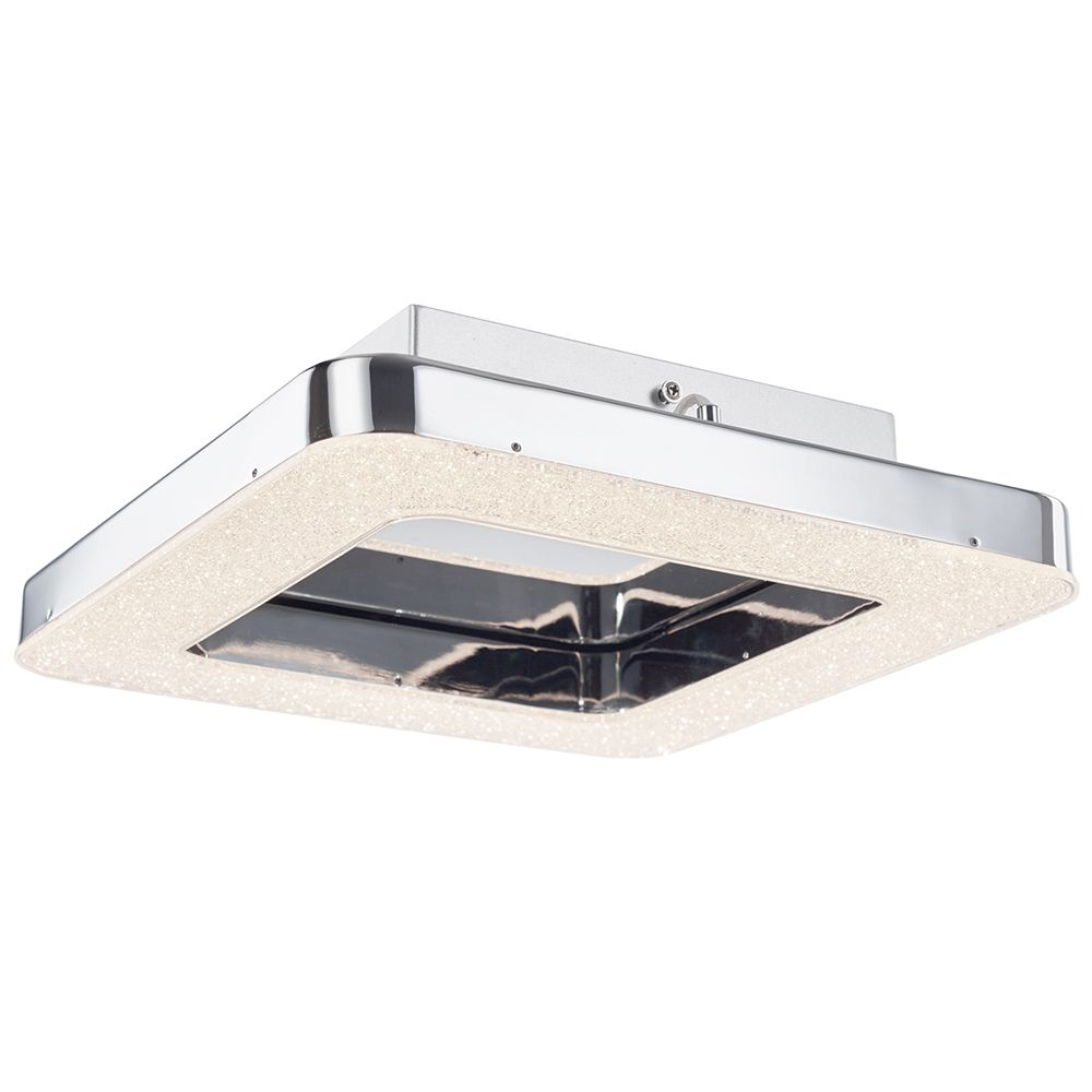 Spark Led Square Flush Ceiling Light Chrome From Litecraft