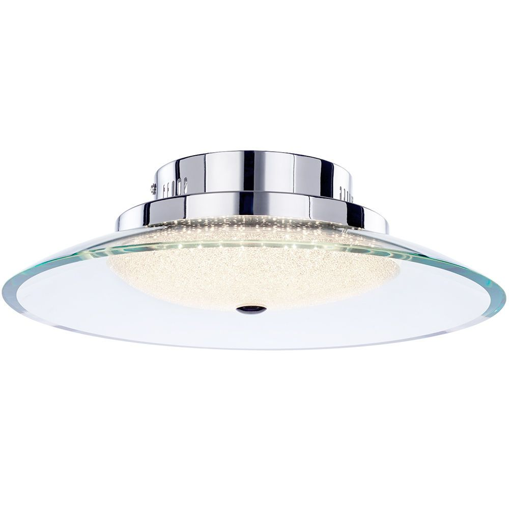 Quartz Semi Flush LED Ceiling Light