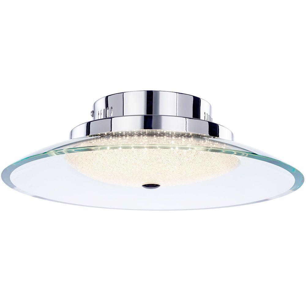 Visconte zaffiro semi flush led ceiling light chrome from litecraft