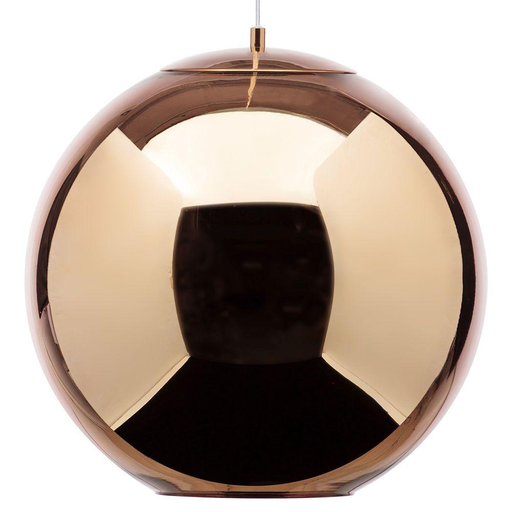 Pendant Ceiling Lights Copper : Large leo light ceiling pendant copper from litecraft