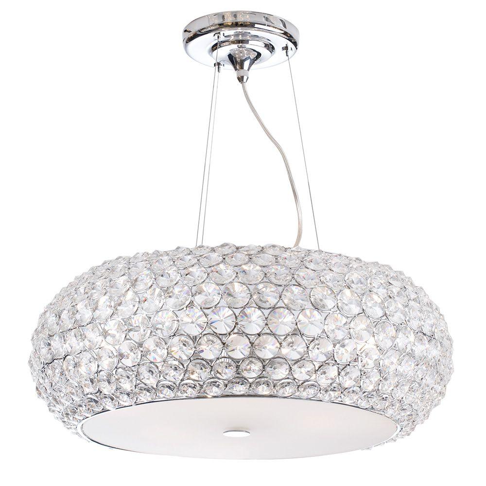 Astra Large 6 Light Diamante Ceiling Pendant Light