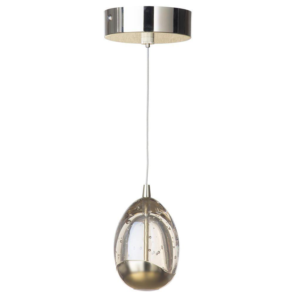 Visconte Bulla 1 Light LED Ceiling Pendant - Gold